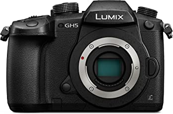 Panasonic Lumix DC-GH5EG-K Systemkamera (20 Megapixel, DUAL IS Bildstabilisator, 4K60p Videoaufname, 4K & 6K Serienbilder, Hybrid Kontrast AF, wetterfestes Magnesiumgehäuse) Gehäuse Schwarz