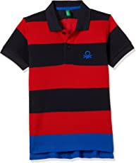 United Colors of Benetton Boys' Polo (17A30890ZAS2I_Multicoloured_XS)