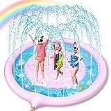 Jojoin Splash Pad, Juego de Salpicaduras y Salpicaduras, Almohadilla de aspersión de 170 cm, Piscina para niños, Juego de Ver