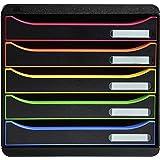 Exacompta - Réf. 309914D - BIG BOX PLUS - Caisson 5 tiroirs pour document A4+ - Dimensions extérieures : Profondeur 34,7 x la