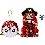 Na! Na! Na! Surprise 2-en-1 mannequin & sac à pompon, BECKY BUCKANEER. Poupée pirate, tenues élégantes & accessoires. Série s