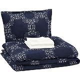 AmazonBasics 6-Piece Comforter Bedding Set, Twin / Twin XL, Navy Nautical Knot, Microfiber, Ultra-Soft