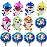 rosepartyh Palloncini di squalo Set Palloncini Shark 12 Pezzi per Shark Decorazioni di Compleanno a Tema per Bambini Baby Sho