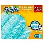 Swiffer Duster Ricariche per Piumino Catturapolvere, Ricambio Maxi Formato, 20 Pezzi, Cattura la Polvere, i Peli e gli...