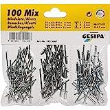 GESIPA | 100 aluminium - klinknagels - set Ø 4,0 | klinknagels materiaaldikte: 1,0-9,0 mm | Made in Germany! | klinknagels in