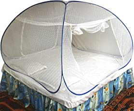 Healthy Sleeping Foldable Polyester Double Bed Mosquito Net, Manufacturer and Original Seller SOUMYA ENTERPRISE - Embroidery