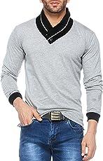 V3Squared Men's Cotton Full Sleeve V Neck T-Shirt