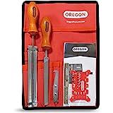 Oregon 558550 - Afilado de la cadena de motosierra y kit de mantenimiento de la barra guía incluyendo archivos