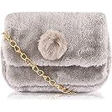 Faux Fur New Branded Ladies Purse Fashion Expensive Handbag Shoulder Evening Sling Bags for Women