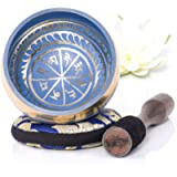 Tibetan Singing Bowl Set — Easy to Play with New Dual-End Striker & Cushion ~ Creates Beautiful Sound for Holistic…