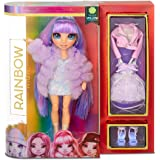 Rainbow High Poupée Mannequin - Violet Willow – Poupée thème vert avec tenues luxueuses, accessoires et socle - Série 1 - Par