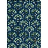 Clairefontaine 192236C Un Carnet Cousu Bleu Paon - A5 14,8x21 cm 48 Pages Lignées Papier Clairefontaine Ivoire 90 g - Couvert