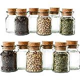 MamboCat 12er Set Gewürzgläser | Füllmenge 150 ml | Wiederverwendbare Glasdose + Korkverschluss | hochwertiges rundes Glas | Aufbewahrung von Tee Kräutern Gewürzen