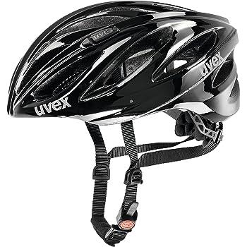 Uvex Boss Race Casco de Ciclismo, Unisex Adulto, Negro, 52-56 cm