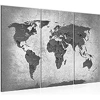 Bilder Weltkarte World Map Wandbild 120 x 80 cm Vlies - Leinwand Bild XXL Format Wandbilder Wohnzimmer Wohnung Deko…