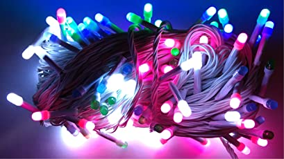 Lance Retail (LR) Plastic Multi-Mode Round Shape Serial Led Lights for Decoration, 25m(Multicolour)