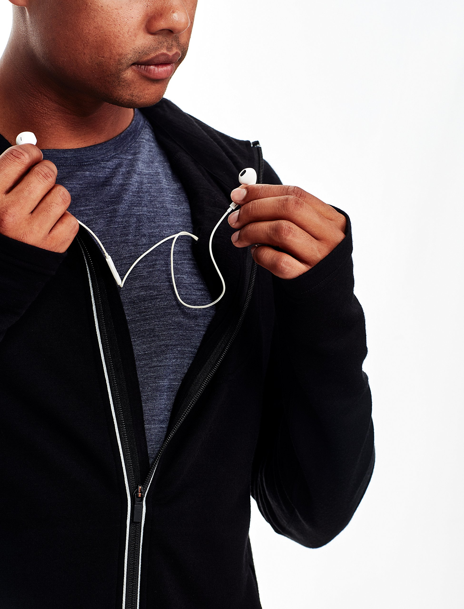 91ADzDO5e4L - Icebreaker Men's Quantum Long Sleeve Zip Hood Cover Ups