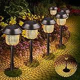 Lámpara solar para jardín, Tencoz LED Luz de la antorcha solar IP44 Luz de Llama Jardin Solares Exterior Luces de decoración