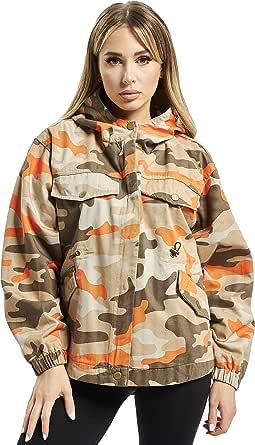 Urban Classics Jacke Ladies Oversized Camo Parka Jacket Giacca Donna