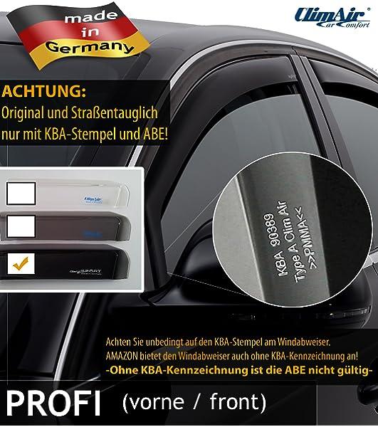 vorne ClimAir Windabweiser -CLI0033644 - Farbe: rauchgrau
