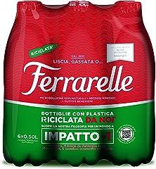 Ferrarelle Acqua Minerale Effervescente Naturale - 6 x 0.5 L