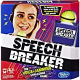 Hasbro Gaming Speech Breaker Game Voice Jamming Challenge Microphone Headset Electronic Party Game Ages 14+