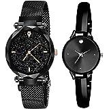 BID Analogue Women's & Girl's Watch (Black Dial Black Colored Strap)