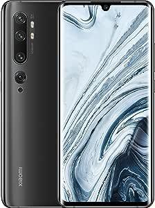 """Xiaomi Mi Note 10 Smartphone (16,43cm (6,47"""") 3D Curved AMOLED FHD+ Display, 128GB interner Speicher + 6GB RAM, 108MP KI-Penta-Rückkamera, 32MP Selfie-Frontkamera, Dual-SIM, Android 9) Midnight Black"""