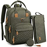 Changing Bag Backpack, Dikaslon Large Nappy Back Pack Multifunction Baby Bags (Army Green)