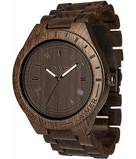 Analog Watch Sector Quarz Smart Mit Holz Herren Armbanduhr Armband vwm8Nn0O