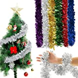 Multi Coloured 2 Meters each Strand 6 Strands of Luxury Tinsel