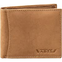 ABYS Genuine Leather Wallet for Men and Boys (TAN-8519H)