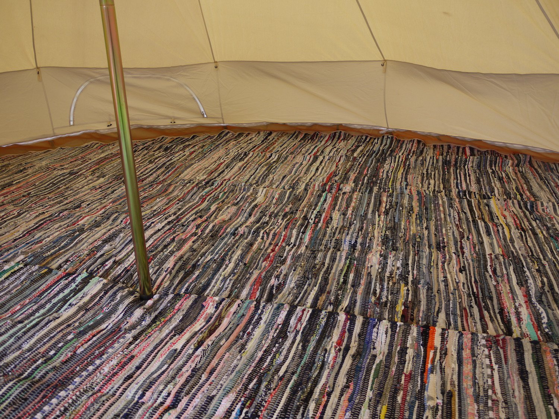 Bell Tent Half Moon Rag Rugs 7