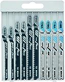 Bosch Professional 10tlg. Stichsägenblätter Set Basic (Metall und Holz, Zubehör für Stichsägen mit T-Schaftaufnahme)