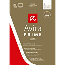 Avira Prime Edition 2018 / All-in-one: Antivirus Pro & Tuning Software inkl. Avira Phantom VPN Pro (Monatslizenz) für 1 User - 5 Geräte / Download für Windows (7, 8, 8.1, 10), Mac, Android & iOS [Online Code]