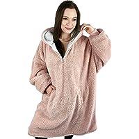 Oversized Blanket Hoodie, Teddy Fleece Hoodie Blanket for Adults, Hooded Blanket, Comfy & Fluffy Hoodie, Snuggle Hoodie…