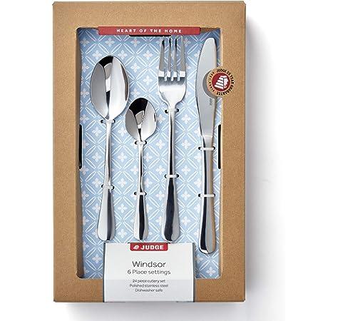 Judge 24 Piece Cutlery Set Stainless Steel Modern Plain