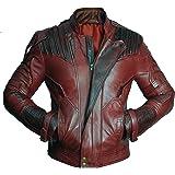 Guardians of The Galaxy 2 Star Lord Chris Pratt Maroon - Chaqueta de piel auténtica