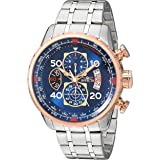Invicta Men's Aviator 48mm Stainless Steel Chronograph Quartz Watch, Silver (Model: 17203)