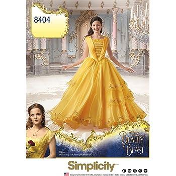 """Simplicity Nähmuster 8406 Disney """"Die Schöne und Das Biest"""", Kostüm ..."""