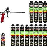 12 x 750 ml 1K PU-schuim + 1 x reiniger + 1 x pistool