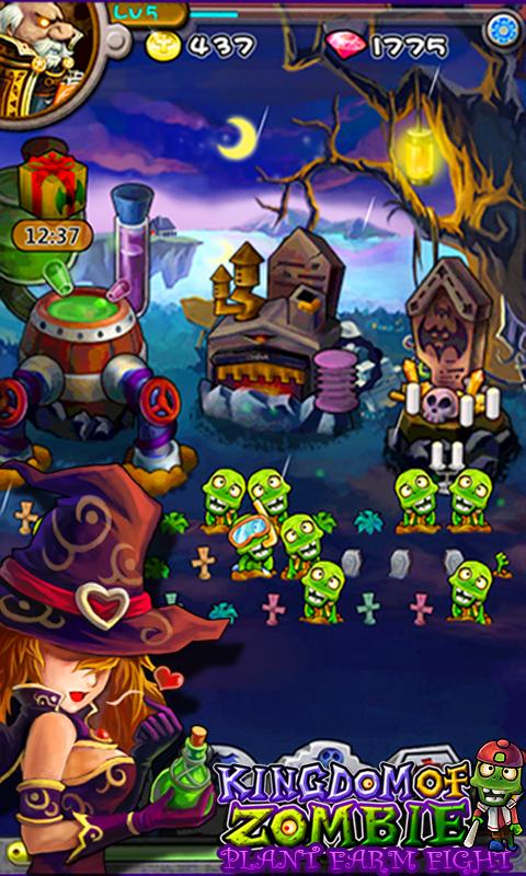 kingdom of zombies plant farm fight from panda tap