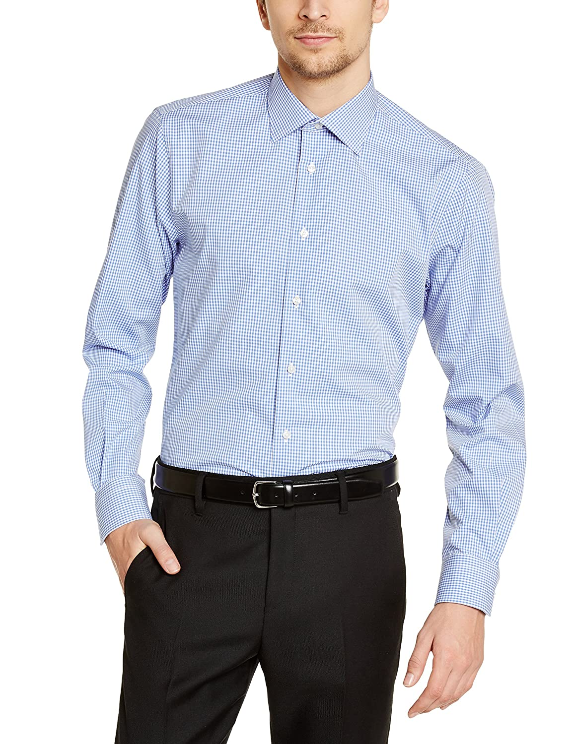 Tommy Hilfiger Tailored Herren Regular Fit Smoking Hemd JHN SHTCHK99002:  Amazon.de: Bekleidung