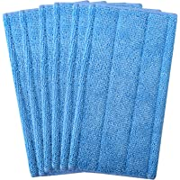 6 Remplacement Lingettes Reutilisable pour Swiffer WetJet Spray Balais Lavables en microfibre (Bleu)