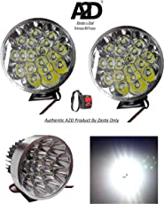 A2D 18 LED 54 Watts Cree LED Aux Bike Fog Lamp Light Set of 2 White with Switch-Kinetic GF Lazer