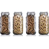Star Work Airtight Storage Jars with Silicon Clamp Buckle Lid | Kitchen Transparent Box Accessories for Food Spice Masala Con