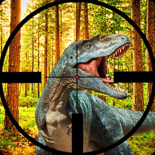 Real Jurassic Dino Hunter FPS Shooting 2019: Volcán jungla dinosaurio pistola disparos juegos de supervivencia batalla depredador glaciar raptor agujero negro balsa batalla refugio zona