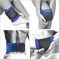 GelpacksDirect Compresse de luxe chaude et froide - avec bande de compression, réutilisable - soulagement rapide de la douleur