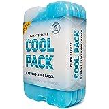 Kühlakku für Lunch, Kühltasche und Kühlbox – Das Original Cool Pack | Extra Dünn & lange Kühlleistung für unterwegs (4 Stück