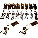10 cilindersloten gelijksluitend, deurslot met 50 sleutels 60 mm